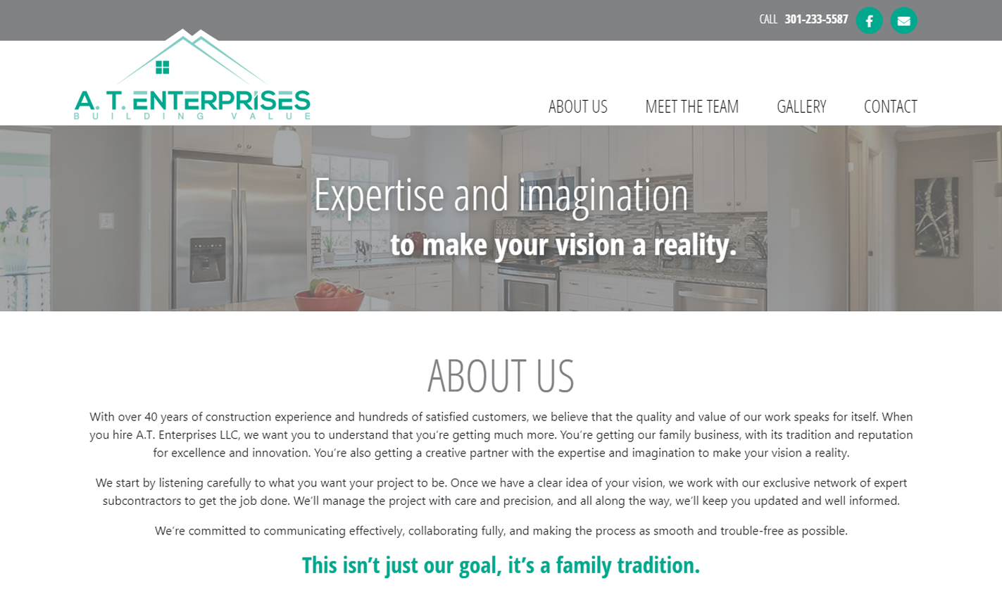 AT Enterprises WordPress Site