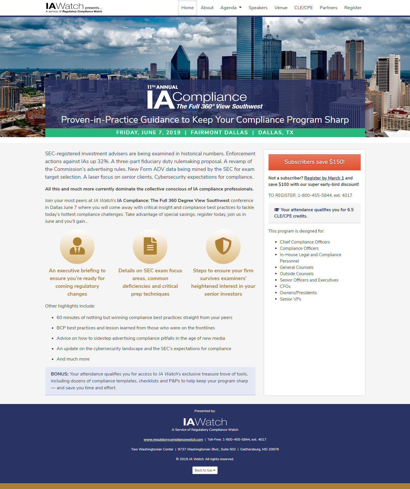 IA Compliance Conference Website