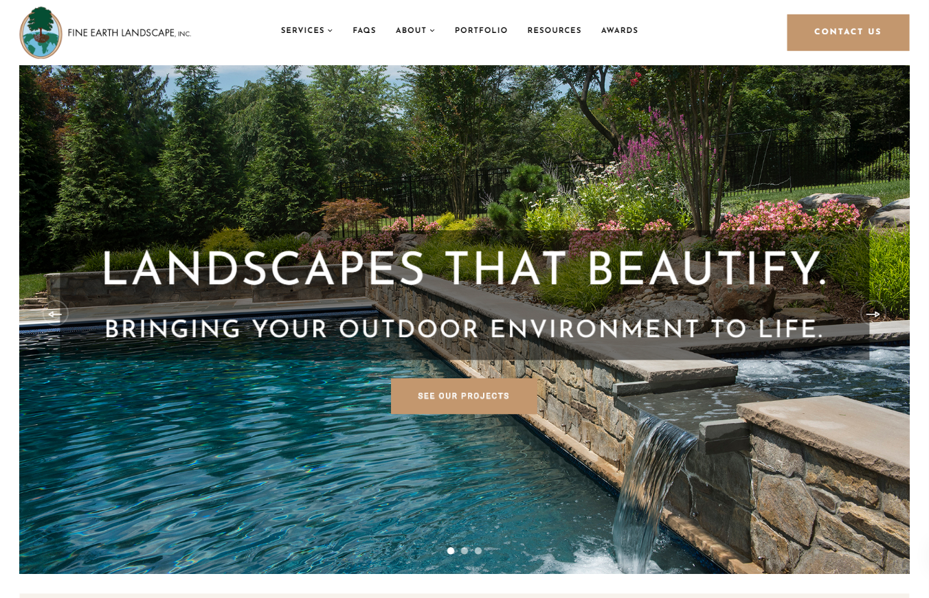 Fine Earth Landscaping Website