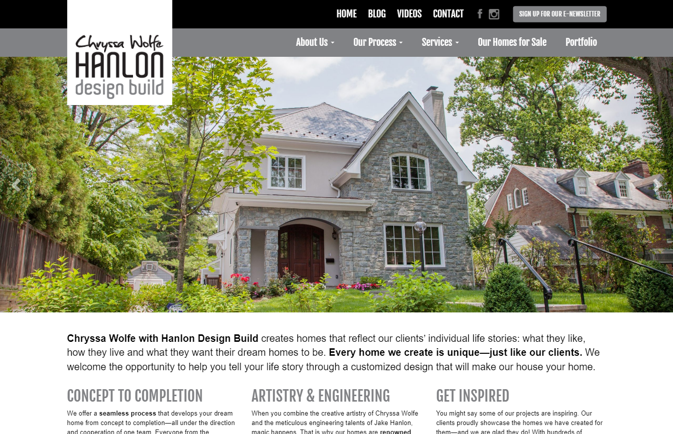 Hanlon Design Build WordPress Site