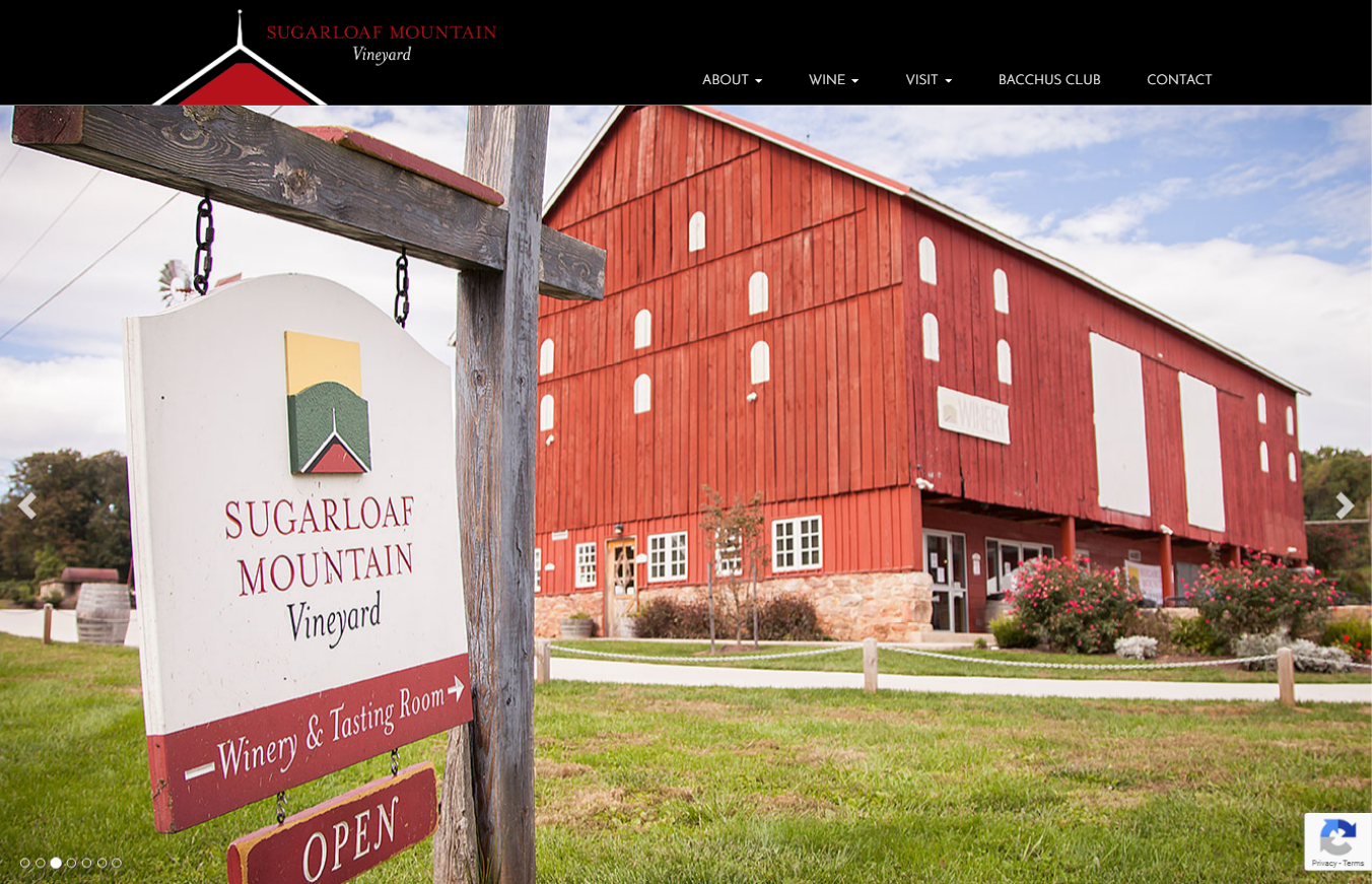 Sugarloaf Mountain Vinery WordPress Site